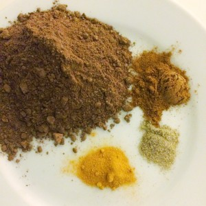 spices for turmeric hot chocolate