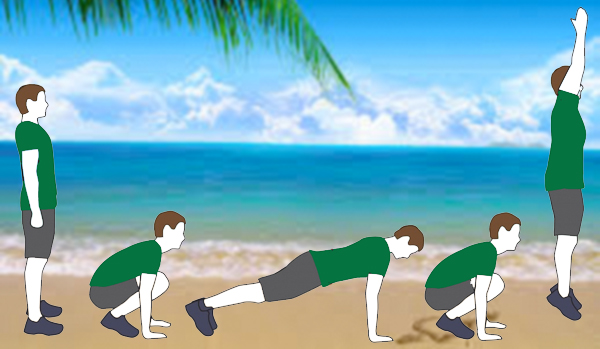 How To Do Burpees at the Beach