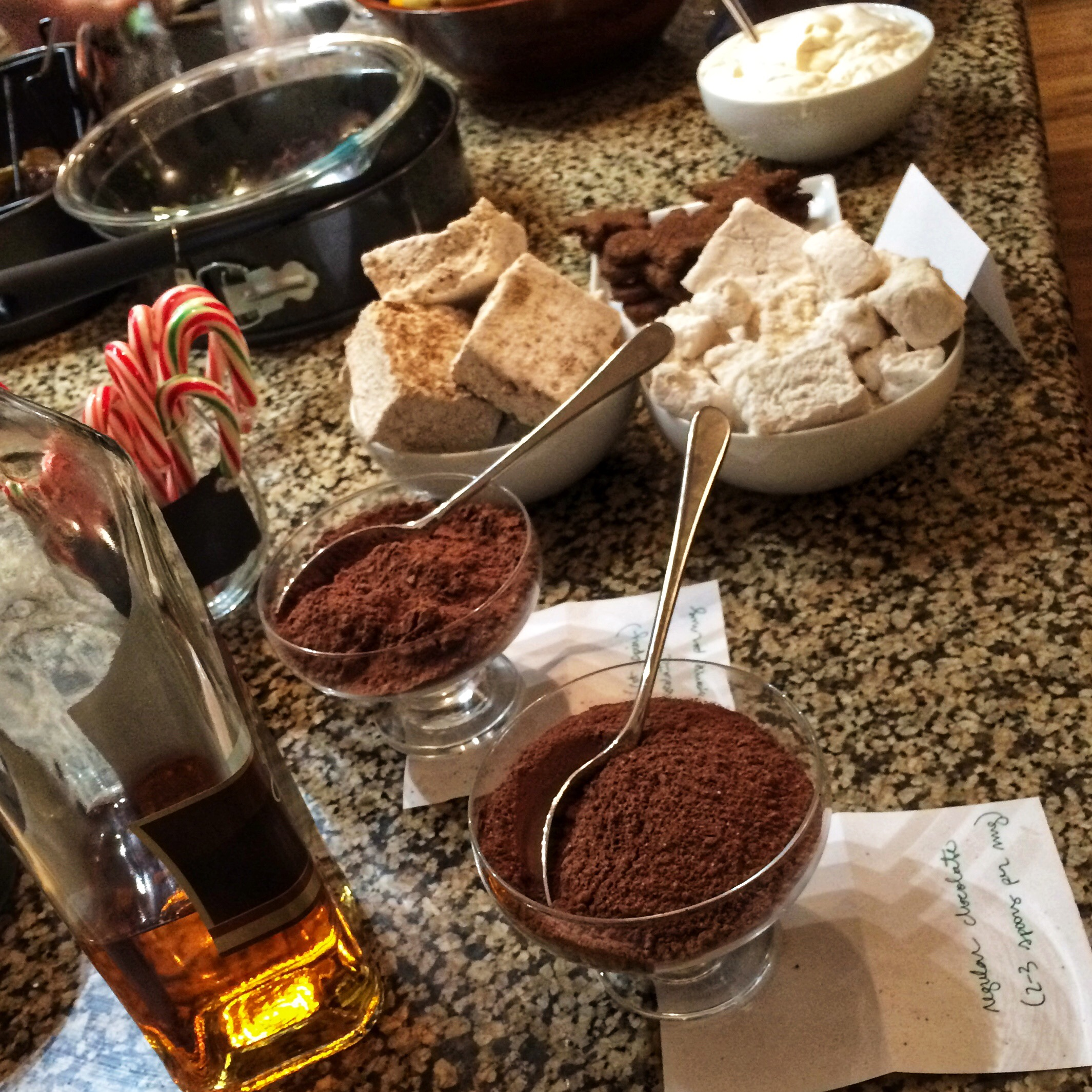 My 2015 Hot Chocolate Bar. I made those marshmallows y'all!